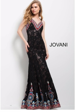 Jovani PROM Embroidered Lace Gown - Product List Image