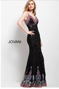 Jovani PROM Embroidered Lace Gown - Alternate List Image