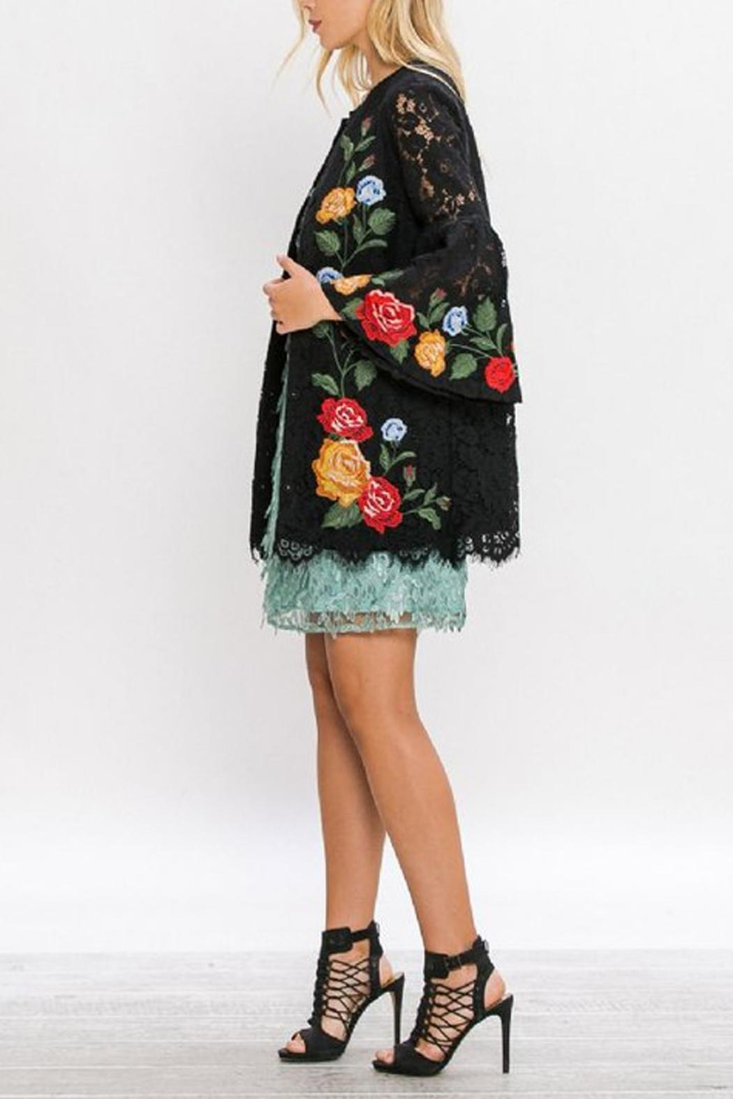 The Vintage Valet Embroidered Lace Jacket - Front Full Image