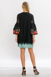 The Vintage Valet Embroidered Lace Jacket - Side cropped