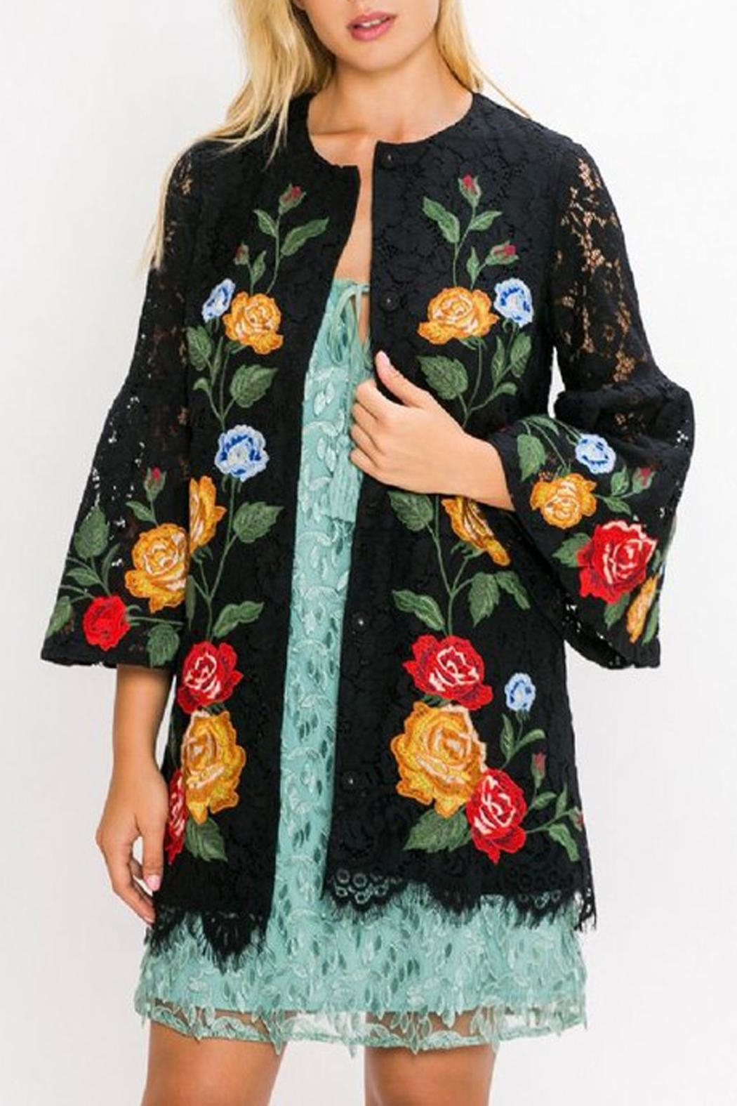 The Vintage Valet Embroidered Lace Jacket - Main Image