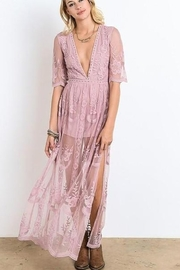 Wishlist Embroidered Lace Maxi Dress - Front cropped