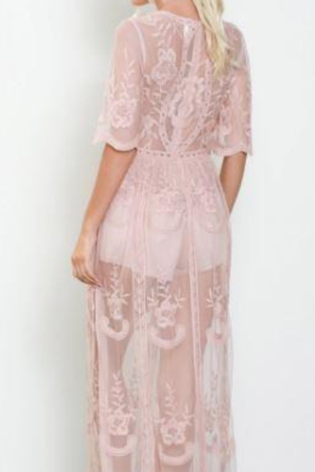 Wishlist Embroidered Lace Maxi Dress - Front Full Image