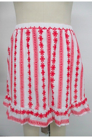 La Ven Embroidered Lace Tiered Skirt - Product Mini Image