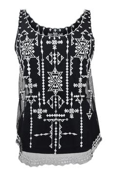 Goldie Embroidered Lace Top - Product List Image