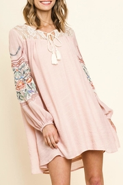 Umgee USA Embroidered Lace-Yoke Dress - Product Mini Image