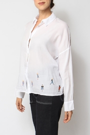 Acoté Embroidered Lady Button-Down - Front full body