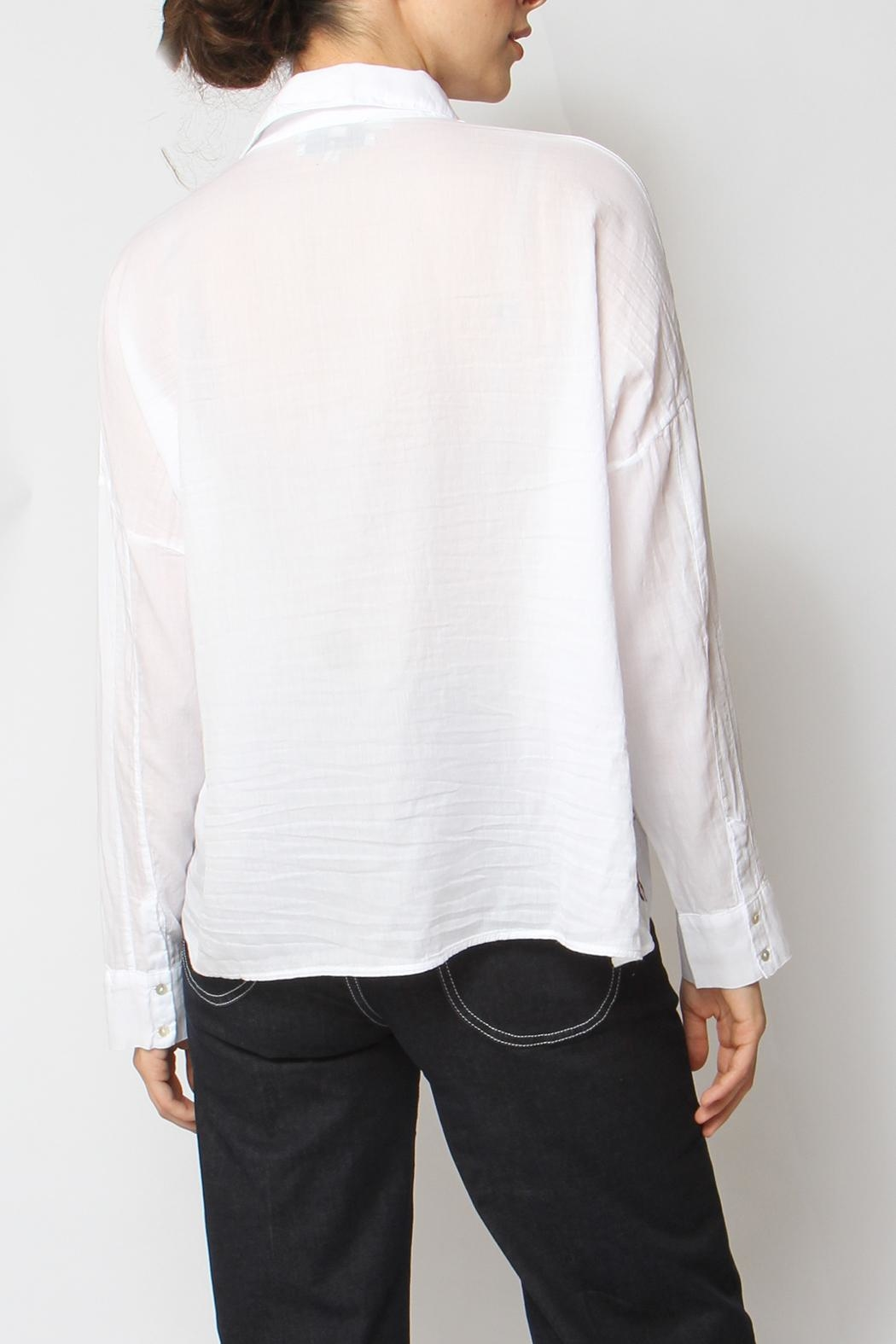 Acoté Embroidered Lady Button-Down - Back Cropped Image