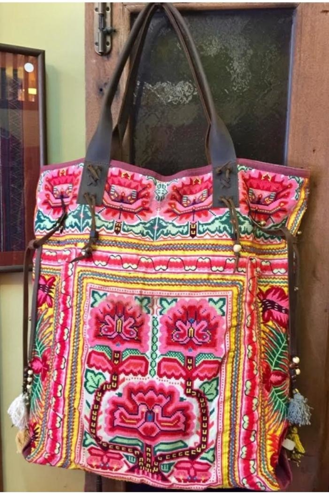 Fredd & Basha Embroidered Large Tote - Front Cropped Image