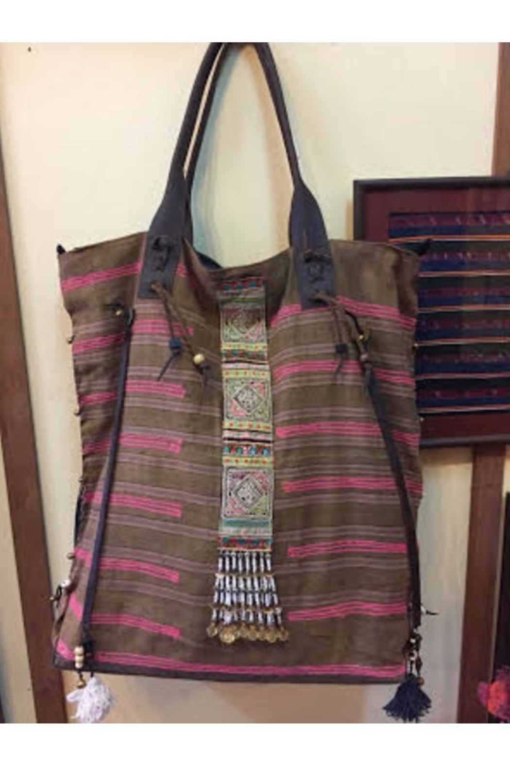 Fredd & Basha Embroidered Large Tote - Front Full Image