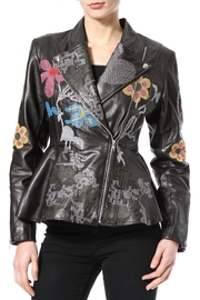 Madonna & Co Embroidered Leather Moto - Product Mini Image