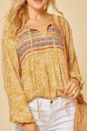Andree by Unit Embroidered Leopard Top - Product Mini Image