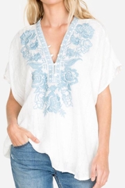 Johnny Was Embroidered Linen Top - Product Mini Image
