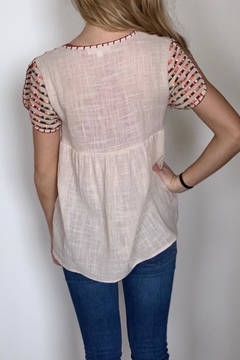 THML Clothing Embroidered Linen Top - Alternate List Image
