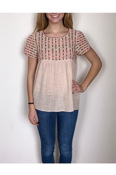 THML Clothing Embroidered Linen Top - Product List Image