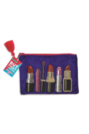 Two's Company Embroidered Lipstick Pouch - Product Mini Image