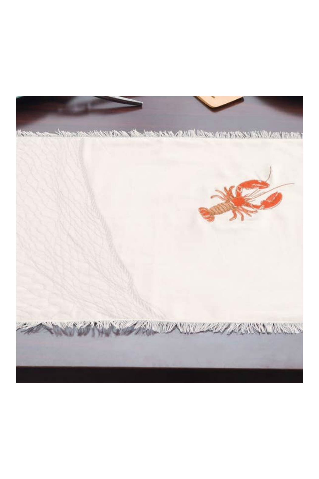 RIGHT SIDE DESIGN Embroidered Lobster Placemats - Main Image