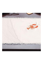 RIGHT SIDE DESIGN Embroidered Lobster Placemats - Front cropped
