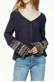 En Creme Embroidered long sleeve top - Product Mini Image
