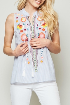 Andree by Unit Embroidered Mandarin Blouse - Product List Image