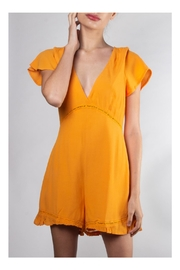 Lumiere Embroidered Marigold Romper - Product Mini Image