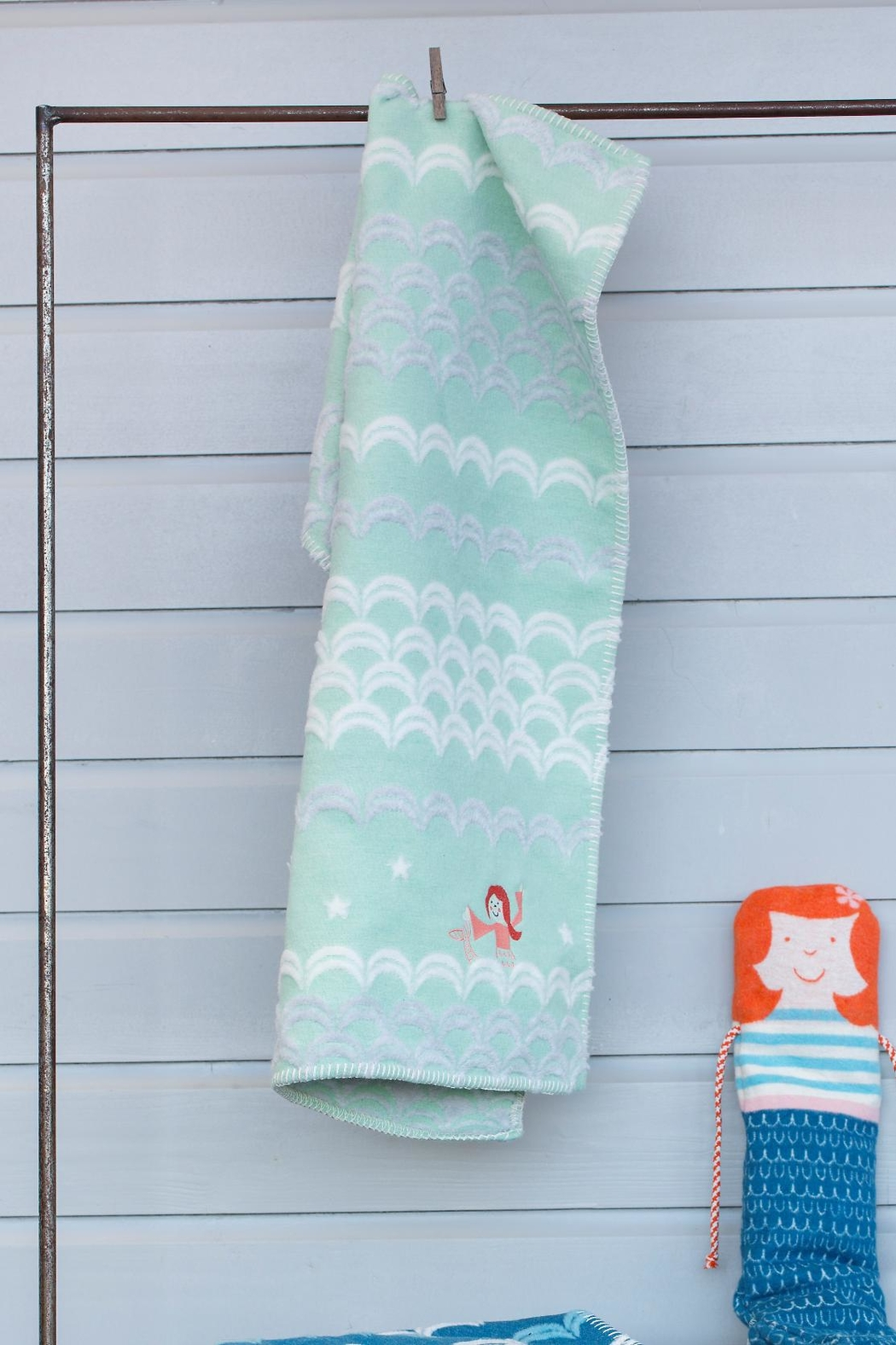 David Fussenegger Embroidered Mermaid Blanket - Front Cropped Image