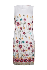 EsQualo Embroidered Mesh Dress - Product Mini Image