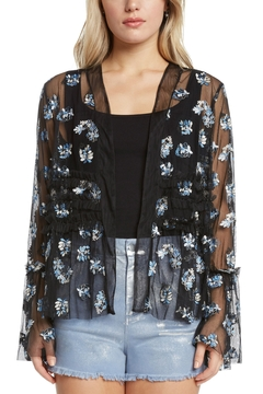 Willow & Clay Embroidered Mesh Jacket w Ruffle - Product List Image