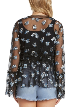 Willow & Clay Embroidered Mesh Jacket w Ruffle - Alternate List Image