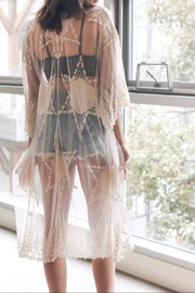 Leto Embroidered Mesh Kimono - Product Mini Image