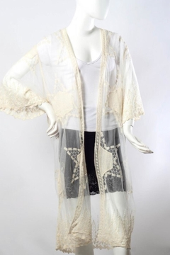 Leto Embroidered Mesh Kimono - Alternate List Image