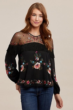 Wrangler Embroidered Mesh Top - Product List Image