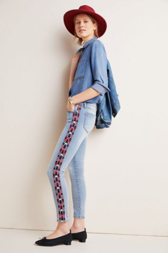 Driftwood Embroidered Mid-Rise Jeans - Product List Image