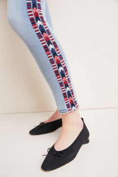 Driftwood Embroidered Mid-Rise Jeans - Alternate List Image
