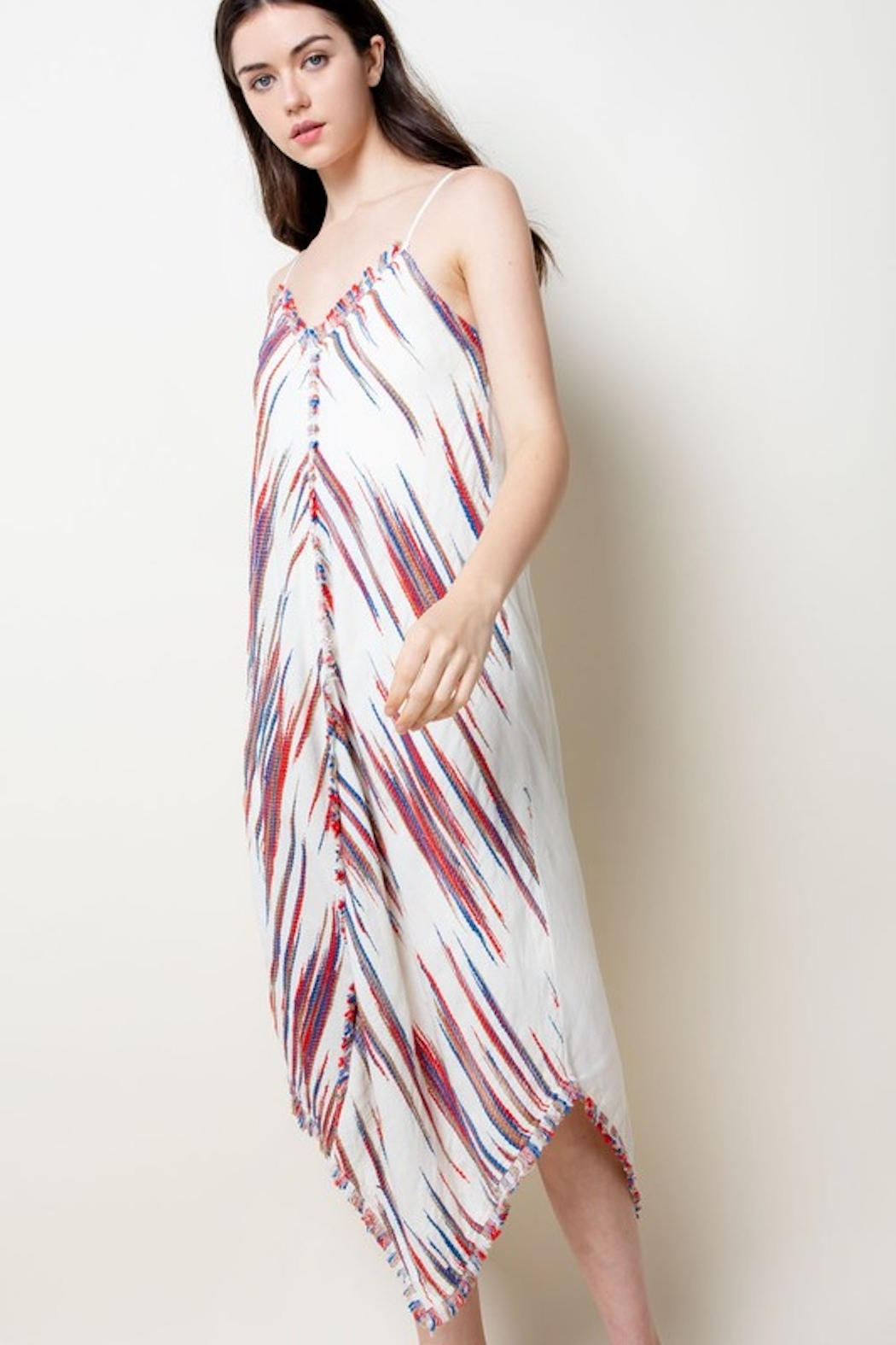 Thml Embroidered Midi Dress - Front Full Image