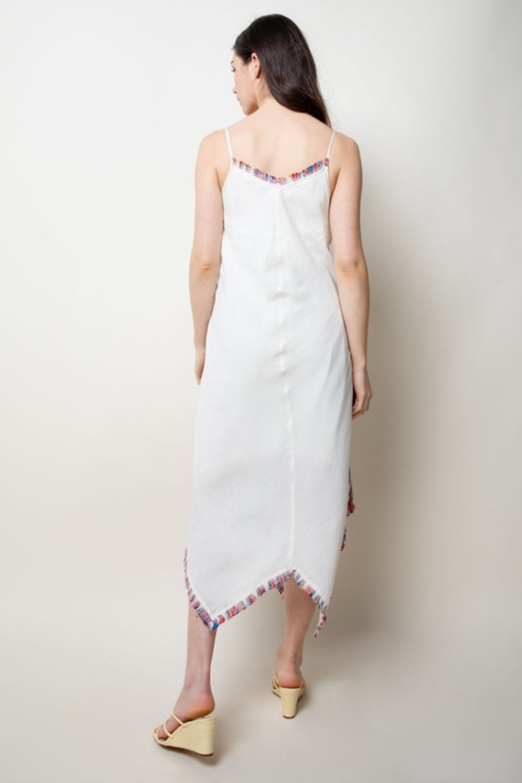 Thml Embroidered Midi Dress - Back Cropped Image