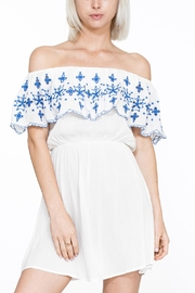 En Creme Embroidered Mini Dress - Product Mini Image