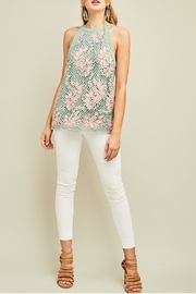 Entro Embroidered Mint Haltertop - Side cropped