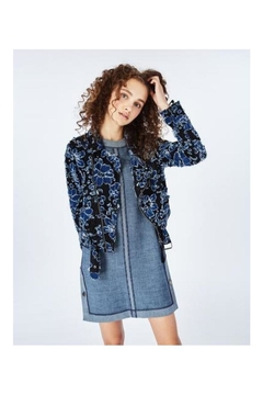 Nicole Miller Embroidered Moto Jacket - Product List Image