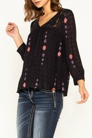 Miss Me Embroidered Navy Top - Side cropped