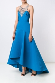 Marchesa Embroidered Neck Gown - Product Mini Image