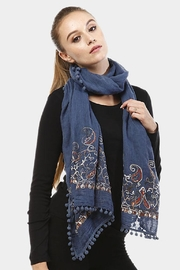 TIGERLILY Embroidered Oblong Scarf - Product Mini Image