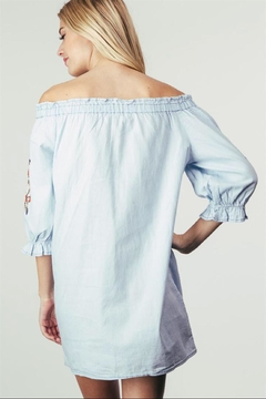 Adora Embroidered Off-Shoulder Dress - Alternate List Image