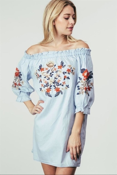 Adora Embroidered Off-Shoulder Dress - Product List Image