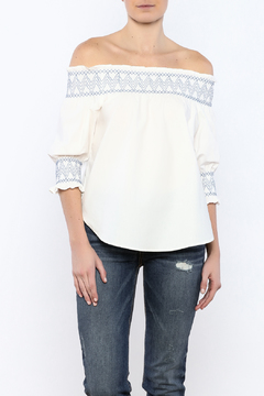 Shoptiques Product: Embroidered Off Shoulder Top
