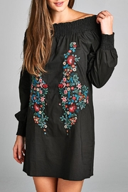 Velzera Embroidered Off-Shoulder Tunic-Dress - Front cropped