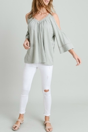 Doe & Rae Embroidered Open Shoulder - Product Mini Image