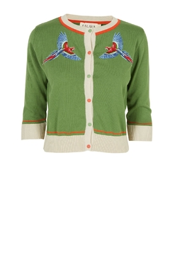 Palava Embroidered Parrot Cardigan - Product List Image