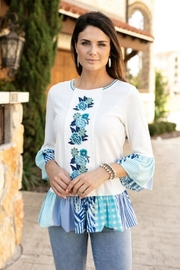 Sharon Young Embroidered Patchwork Tunic - Product Mini Image