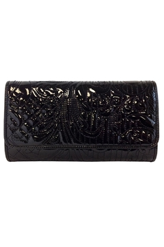 Wild Lilies Jewelry  Embroidered Patent Clutch - Product List Image